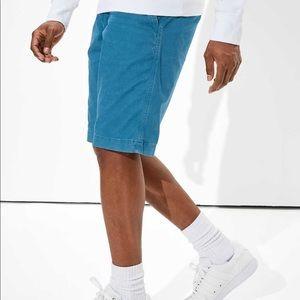 American Eagle Blue Longer Length Khaki Shorts